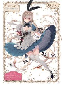 Rating: Questionable Score: 30 Tags: alice alice_in_wonderland dress lolita_fashion no_bra skirt_lift tagme thighhighs white_rabbit yusano User: kiyoe