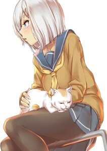 Rating: Safe Score: 23 Tags: hamakaze_(kancolle) kantai_collection neko nekotama1987 pantyhose seifuku sweater User: Mr_GT