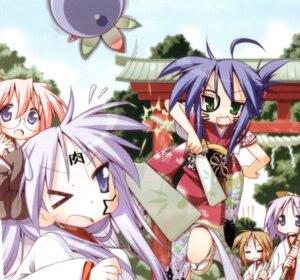 Rating: Safe Score: 5 Tags: hiiragi_kagami hiiragi_tsukasa izumi_konata lucky_star miko takara_miyuki User: dragonshining