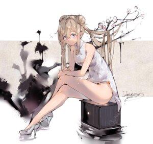 Rating: Safe Score: 30 Tags: chinadress girls_frontline heels hmw_(pixiv7054584) skirt_lift suomi_kp31_(girls_frontline) User: Arsy