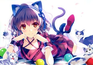 Rating: Questionable Score: 137 Tags: animal_ears dress heels misaki_kurehito neko nekomimi tail thighhighs User: Twinsenzw