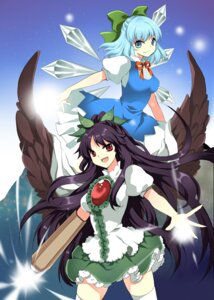 Rating: Safe Score: 10 Tags: cirno jeminl reiuji_utsuho touhou wings User: Radioactive