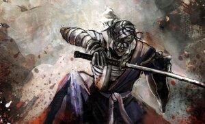 Rating: Questionable Score: 9 Tags: bandages bccp male rurouni_kenshin shishio_makoto sword User: blooregardo