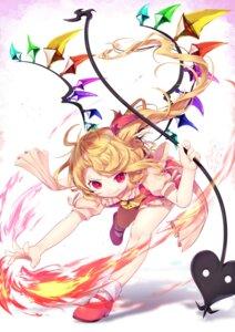 Rating: Safe Score: 7 Tags: flandre_scarlet gunjou_row heels touhou weapon wings User: RyuZU