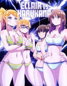Rating: Questionable Score: 48 Tags: bikini breast_hold cleavage harukana_receive higa_kanata megane oozora_haruka swimsuits tagme thomas_emiri thomas_kurea User: drop