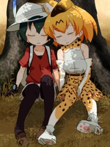 Rating: Safe Score: 11 Tags: animal_ears kaban_(kemono_friends) kemono_friends sat-c serval thighhighs User: Mr_GT