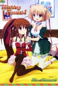 Rating: Safe Score: 60 Tags: christmas cleavage imoto_yuki kamikita_komari little_busters! natsume_rin pantyhose thighhighs User: PPV10