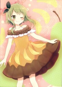 Rating: Safe Score: 13 Tags: amene_kurumi dress gumi skirt_lift vocaloid User: Radioactive