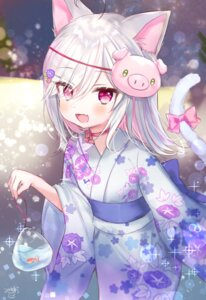 Rating: Safe Score: 17 Tags: animal_ears manao_misuzu_(artist) nekomimi tail yukata User: Mr_GT