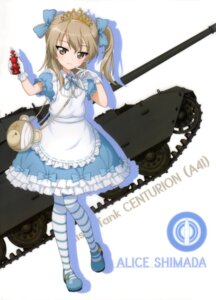 Rating: Safe Score: 34 Tags: alice alice_in_wonderland bandages cosplay dress girls_und_panzer pantyhose shimada_arisu silhouette User: drop