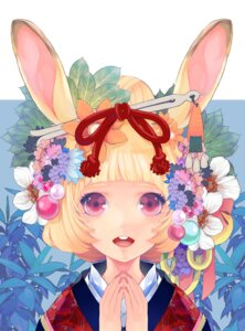 Rating: Safe Score: 29 Tags: animal_ears bunny_ears kimono serenade User: fireattack