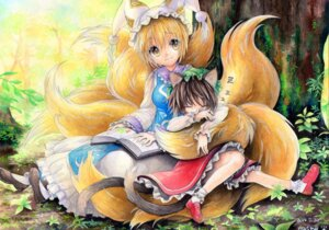 Rating: Safe Score: 19 Tags: animal_ears chen mosho tail touhou yakumo_ran User: Mr_GT
