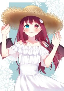 Rating: Safe Score: 21 Tags: chiyomaru dress heterochromia nijisanji summer_dress wings yuzuki_roa User: charunetra