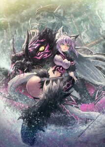 Rating: Safe Score: 33 Tags: animal_ears atalanta_alter fate/grand_order kuroi_susumu monster thighhighs User: RyuZU