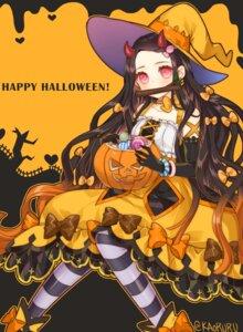 Rating: Safe Score: 13 Tags: atobesakunolove dress halloween horns kamado_nezuko kimetsu_no_yaiba witch User: Mr_GT