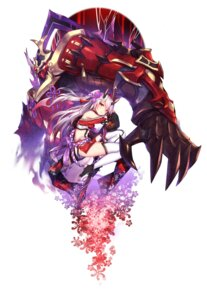 Rating: Safe Score: 37 Tags: aura_kingdom horns mecha shennai_misha sword thighhighs User: nphuongsun93