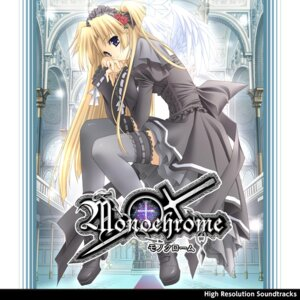 Rating: Safe Score: 21 Tags: disc_cover dress gothic_lolita heels lolita_fashion monochrome_(game) suzuhira_hiro thighhighs wings User: blooregardo