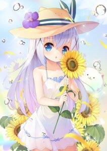 Rating: Safe Score: 33 Tags: dress gochuumon_wa_usagi_desu_ka? kafuu_chino see_through summer_dress taku_michi User: Mr_GT
