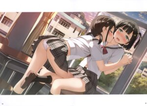 Rating: Questionable Score: 75 Tags: kantoku pantsu seifuku skirt_lift yuri User: kiyoe