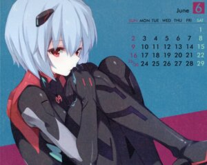 Rating: Safe Score: 31 Tags: ayanami_rei bodysuit calendar neon_genesis_evangelion paper_texture qp:flapper sakura_koharu User: 清宫真结希