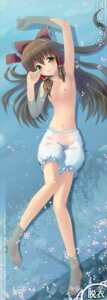 Rating: Questionable Score: 45 Tags: bloomers fixed hakurei_reimu himawari_(artist) nipples see_through sunlight_yellow topless touhou wet_clothes User: petopeto