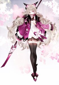 Rating: Safe Score: 24 Tags: horns lolita_fashion moemoe3345 stockings thighhighs wa_lolita weapon User: Mr_GT