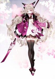 Rating: Safe Score: 20 Tags: horns lolita_fashion moemoe3345 stockings thighhighs wa_lolita weapon User: Mr_GT