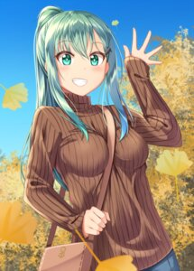 Rating: Safe Score: 56 Tags: gurande kantai_collection suzuya_(kancolle) sweater User: Mr_GT