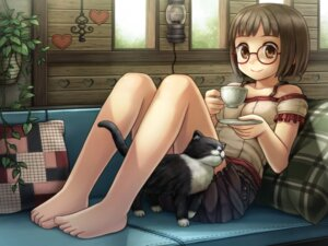 Rating: Safe Score: 31 Tags: megane namaru neko User: nophone