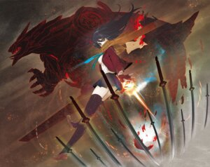 Rating: Safe Score: 25 Tags: mecha sword thighhighs tokichi User: shinkuu