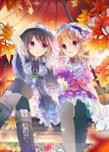 Rating: Safe Score: 68 Tags: dress fruit_punch maribel_hearn pantyhose thighhighs touhou usami_renko User: Mr_GT
