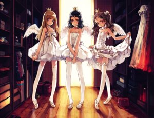 Rating: Questionable Score: 21 Tags: angel dress ema_(shirotsume_souwa) littlewitch loli lolita_fashion oyari_ashito pantsu sayu shirotsume_souwa skirt_lift stockings thighhighs toka_(shirotsume_souwa) wings User: petopeto