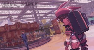 Rating: Safe Score: 11 Tags: gun kohiruimaki_karen kuroboshi_kouhaku llenn sword_art_online_alternative:_gun_gale_online User: kiyoe