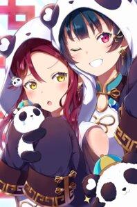 Rating: Safe Score: 24 Tags: animal_ears asian_clothes cleavage love_live!_sunshine!! mia_(fai1510) sakurauchi_riko tsushima_yoshiko User: Spidey