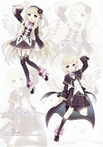 Rating: Safe Score: 44 Tags: cleavage dress gothic_lolita heels lolita_fashion masou_eishou_battlestar metatoron no_bra sandaruhon stockings thighhighs wasabi_(artist) wings User: yong