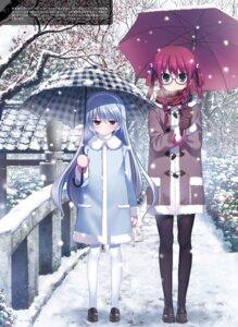 Rating: Safe Score: 31 Tags: fumio grisaia_no_kajitsu grisaia_no_meikyu kazami_kazuki megane pantyhose suou_amane umbrella User: kiyoe