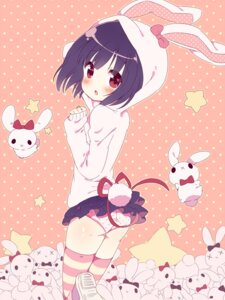 Rating: Questionable Score: 49 Tags: animal_ears bunny_ears kimoko pantsu thighhighs User: fireattack