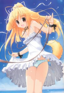 Rating: Questionable Score: 43 Tags: akata_itsuki animal_ears cleavage dress pantsu tail User: blooregardo