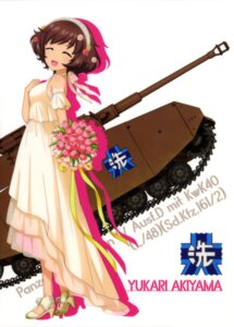 Rating: Safe Score: 14 Tags: akiyama_yukari breast_hold dress girls_und_panzer heels see_through tagme wedding_dress User: drop