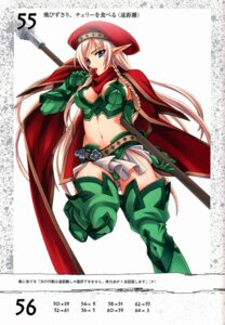 Rating: Questionable Score: 22 Tags: alleyne cleavage elf matsuryuu pointy_ears queen's_blade thighhighs User: YamatoBomber