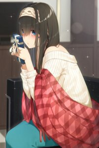 Rating: Safe Score: 20 Tags: go-1 sagisawa_fumika sweater the_idolm@ster the_idolm@ster_cinderella_girls valentine User: Arsy