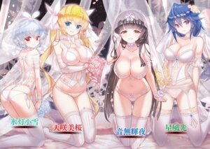 Rating: Questionable Score: 107 Tags: ass bra cleavage corset dress garter_belt lingerie magika_no_kenshi_to_basileus pantsu pointy_ears stockings string_panties tagme thighhighs wedding_dress User: kiyoe