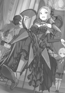 Rating: Safe Score: 11 Tags: armor cleavage dress heels monochrome ootsuka_shinichirou re_zero_kara_hajimeru_isekai_seikatsu tagme User: kiyoe