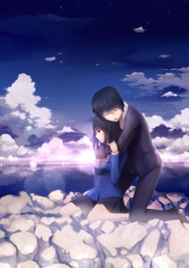 Rating: Safe Score: 14 Tags: 5_centimeters_per_second fs-project seifuku shinohara_akari toono_takaki User: 04