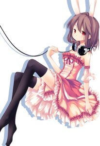 Rating: Safe Score: 32 Tags: animal_ears bunny_ears dress headphones huohai thighhighs User: Radioactive