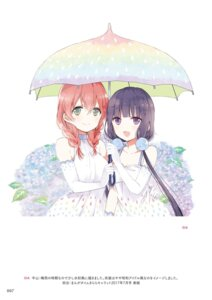 Rating: Safe Score: 35 Tags: amano_miu blend_s cleavage digital_version dress nakayama_miyuki sakuranomiya_maika umbrella User: kiyoe