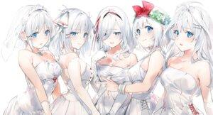 Rating: Safe Score: 69 Tags: 5-toubun_no_hanayome cleavage cosplay dress nakano_ichika nakano_itsuki nakano_miku nakano_nino nakano_yotsuba sketch tantei_wa_mou_shindeiru umibouzu_(niito) wedding_dress User: hiroimo2