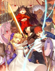 Rating: Safe Score: 64 Tags: archer armor assassin_(fsn) berserker caster cleavage dress emiya_shirou fate/stay_night fate/stay_night_unlimited_blade_works gilgamesh_(fsn) illyasviel_von_einzbern lancer rider saber seifuku sword takeuchi_takashi toosaka_rin weapon User: bcritob1