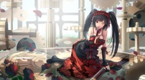 Rating: Safe Score: 99 Tags: cleavage date_a_live gothic_lolita gun heterochromia kikivi lolita_fashion tokisaki_kurumi User: Mr_GT
