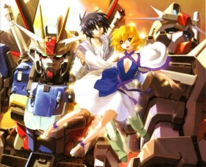 Rating: Safe Score: 6 Tags: gundam gundam_seed gundam_seed_destiny mecha scanning_artifacts screening shinn_asuka stella_loussier User: Fayto